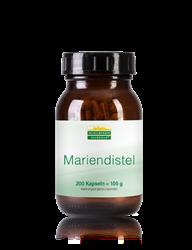 Mariendistel Kapseln - 200 Stück - 100 g